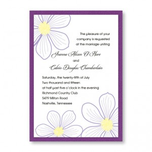 Stylish Blooms Floral Wedding Invitations