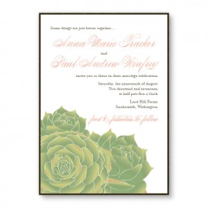 Succulent 2-Layer Nature Wedding Invitations