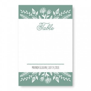 Summer Flora Table Cards