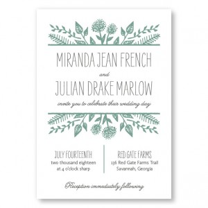 Summer Flora Wedding Invitations