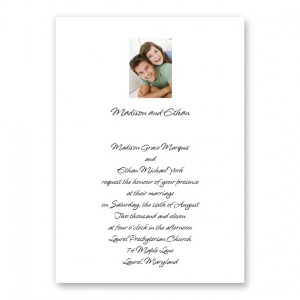 Sweet Memories Photo Wedding Invitations