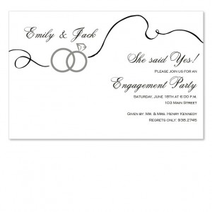 Swirl Rings Invitations