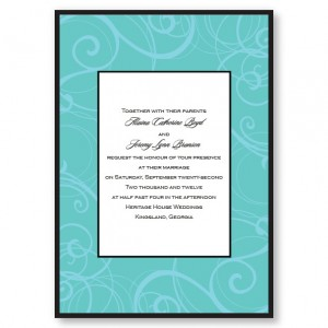 Swirls Seafoam Wedding Invitations