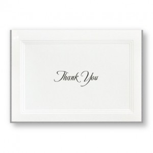 A Classic Thank You Cards - LIMITED STOCK ON HAND