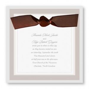 Timeless Style Brown Wedding Invitations