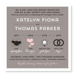 Timeline Unique Wedding Invitations