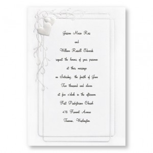 Together Forever Hearts Wedding Invitations