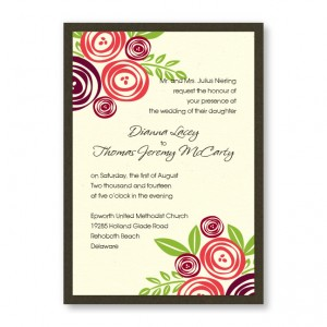Touched with Roses Wedding Invitations