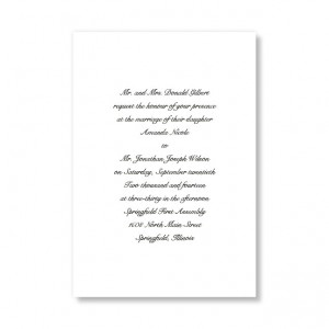 Traditional Love White Classic Wedding Invitations