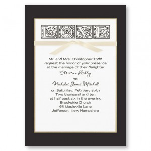 True Love Elegant Wedding Invitations