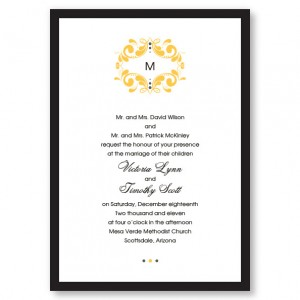 Tuxedo Monogram Wedding Invitations