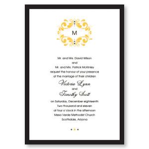 Tuxedo Monogram Wedding Invitations