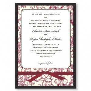 Canterbury Wedding Invitations