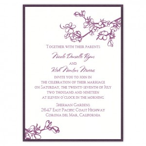 Vanessa 2-Layer Floral Wedding Invitations