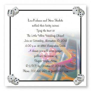 Vegas Style!! Wedding Invitations