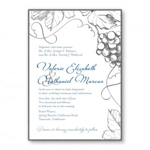 Vineyard 2-Layer Nature Wedding Invitations