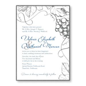 Vineyard 2 Layer Nature Wedding Invitations