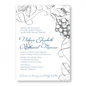 Vineyard Nature Wedding Invitations