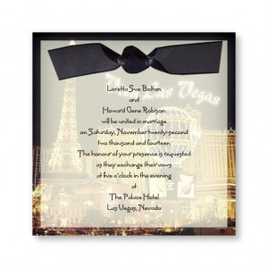 Viva Las Vegas Classic Wedding Invitations