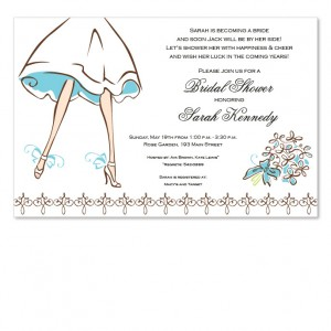 Walking Bride Invitations