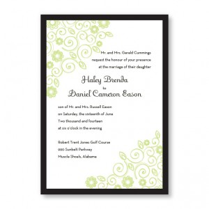 Wedding Bliss Flower Wedding Invitations