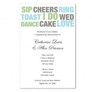 Wedding Words Invitations