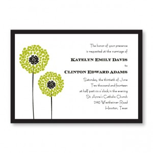 Whimsey Flowers Wedding Invitations