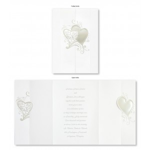 Whimsical Hearts Modern Wedding Invitations