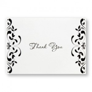 Castillian Thank You Cards