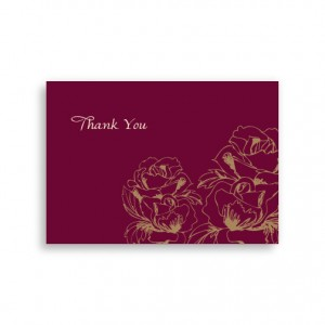 Blooming Roses Thank You Cards