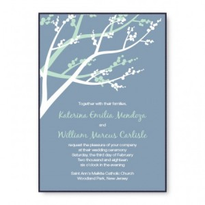 Winter Berry 2-Layer Nature Wedding Invitations