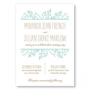 Winter Flora Wedding Invitations