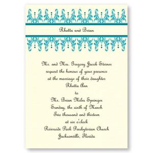 Wrought Iron Wedding Invitations