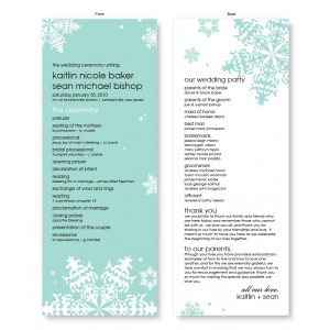 Falling Snow Wedding Program