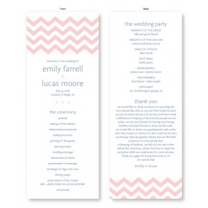 Chevron Wedding Program