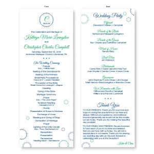 Circles and Dots Wedding Program