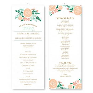 Floral Cluster Wedding Program