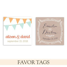 wedding favor tags by the green kangaroo