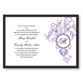 Circle Imprint Wedding Invitations