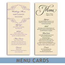 wedding menu cards by mygatsby