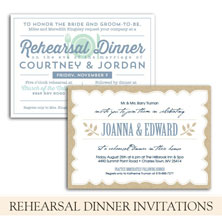 rehearsal dinner invitations by the green kangaroo