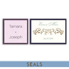 wedding invitation seals by mygatsby