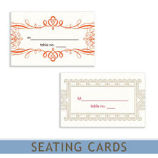 wedding reception seating cards by mygatsby