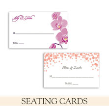 wedding reception seating cards by the green kangaroo
