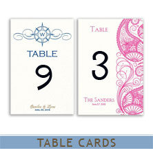 wedding table cards by mygatsby