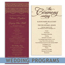 wedding programs by mygatsby