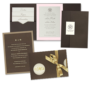 Brown Pink Wedding Invitations from MyGatsby The newest trend in wedding