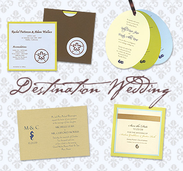 Destination Wedding Invitations from MyGatsby