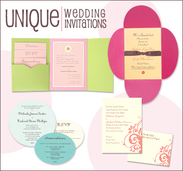 Unique Wedding Invitations from MyGatsby Wedding invitations are one of the