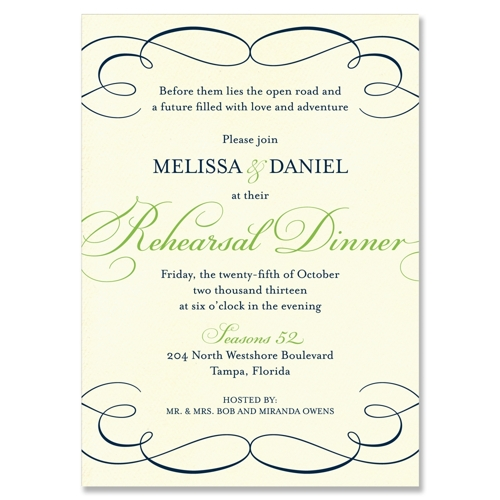 Pics Photos - Rehearsal Dinner Invitations Templates
